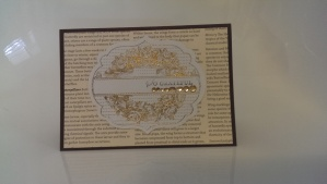Gold embossed Apothecary Art card