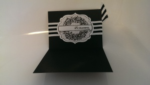 Black embossed Apothecary Art card
