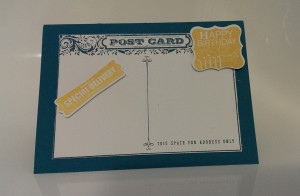 Stampin Up post card stamp