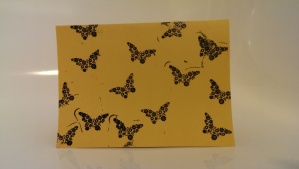 Embossed butterflies card - by Mr 4 :-)