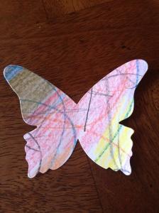 Scribble scrabble butterfly