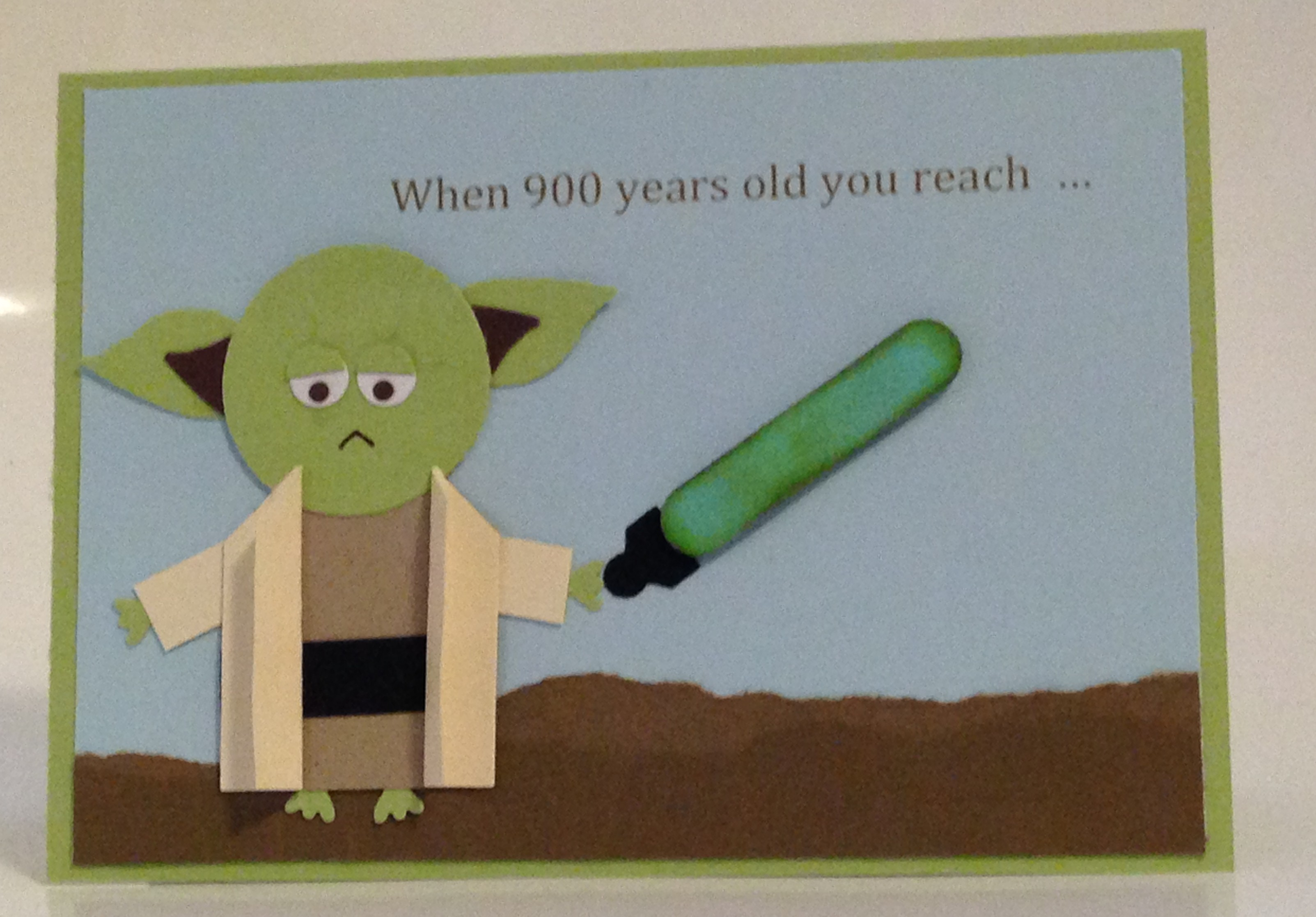 Star wars punch art yoda birthday card caros pretty things yoda punch art card bookmarktalkfo Image collections