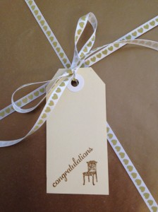 House warming gift tag