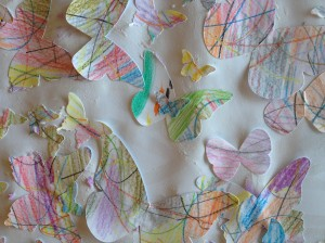 Scribble scrabble butterfly art