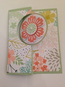 Sweet Sorbet Circle Thinlits 'flip' card