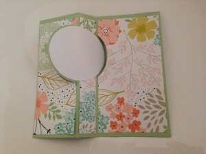 Inside of Sweet Sorbet 'flip' card