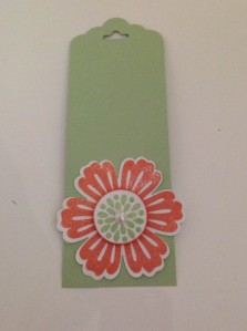 "Scallop Tag Topper punch, Mixed Bunch flower, with Blossom and 1"" circle punch"