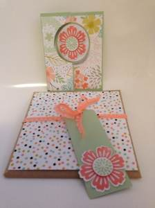 Sweet Sorbet card and matching gift wrap and gift tag