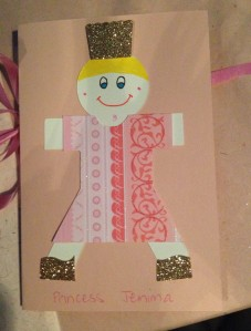 Mr 4's Princess card