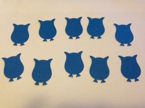 Owl punch cut outs