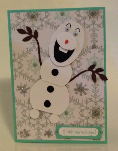 Olaf the Snowman card (Frozen)