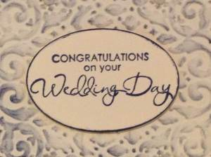 Wedding day greeting