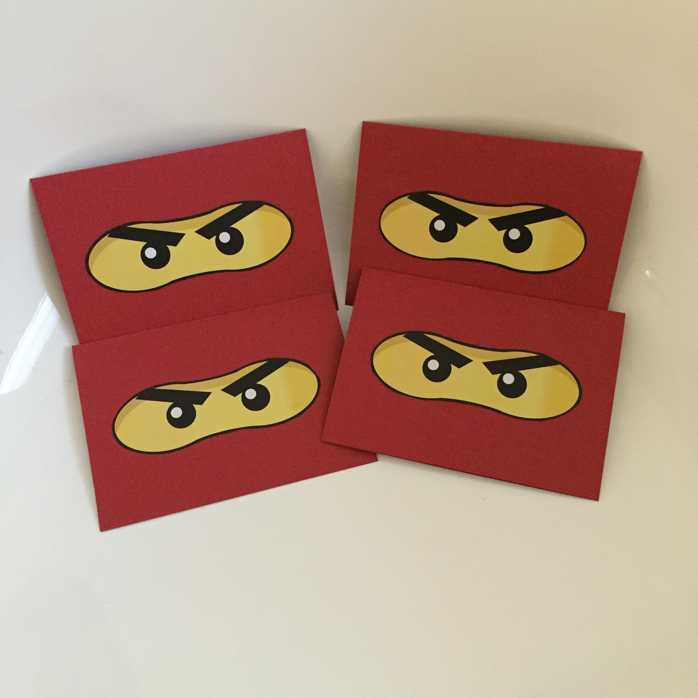 Ninjago birthday cards   Caro's Pretty Things